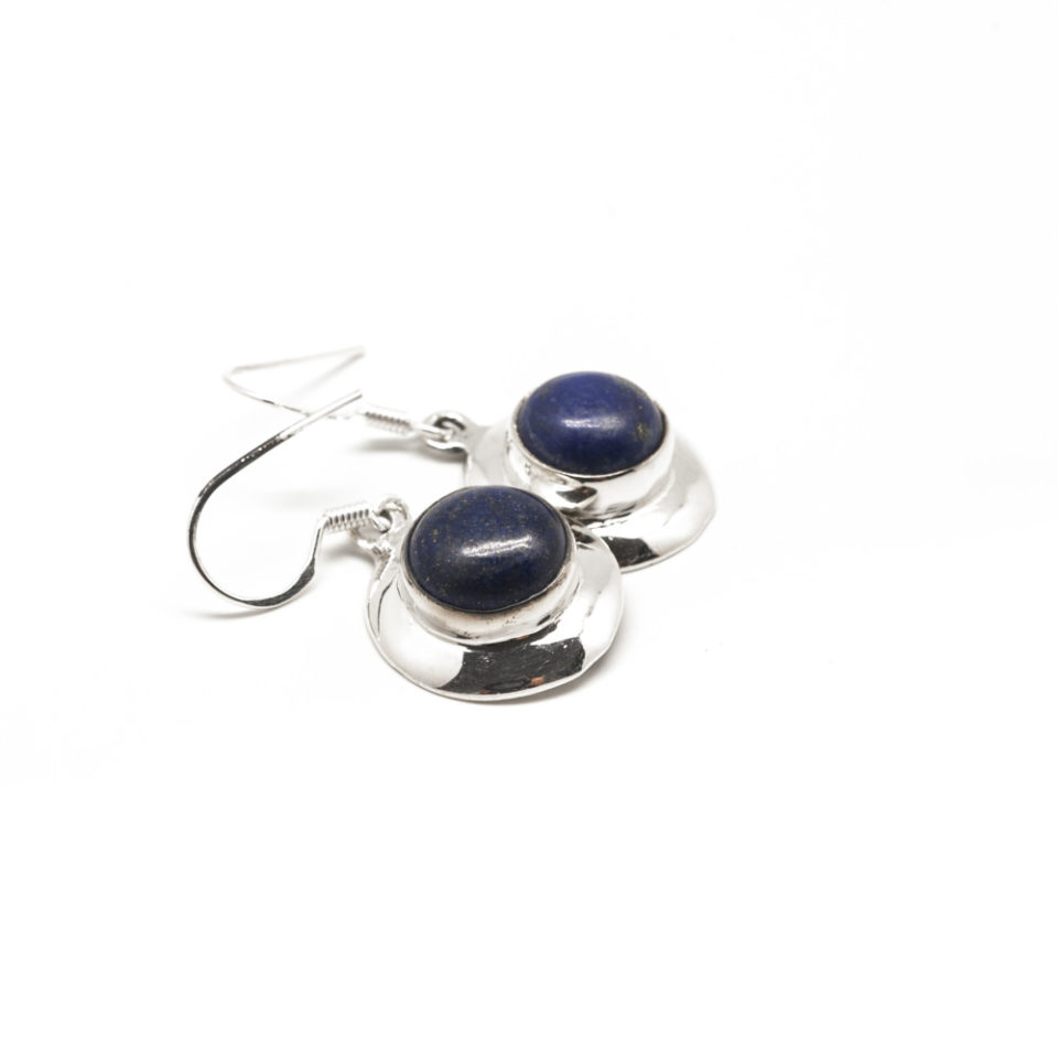 Ronde lapis lazuli Argent
