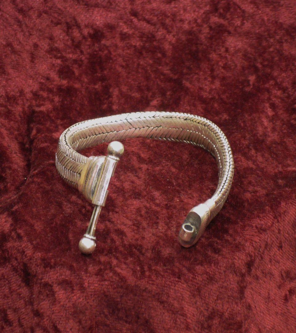 bracelets snake plat larg 13 à 14 mm