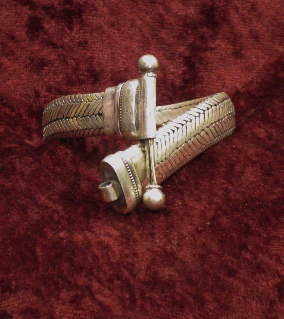 bracelets snake plat larg 12 à 13 mm